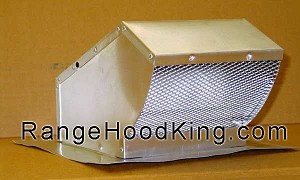 "Aluminum Roof Cap for ducts up to 7"" Round"