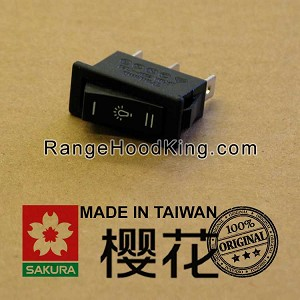Sakura R706 Light Switch Black Dual Motion